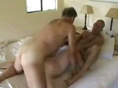 Mature horny threesome frigging