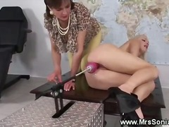 lesbian, british, mature, machine, toys, fetish, dildo