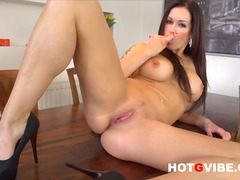 Sexy Milf Stacy Silver Fingering her ...