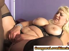 Bbw cougar mounted int...