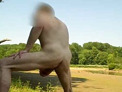 outdoor, mature, ass, jerking,