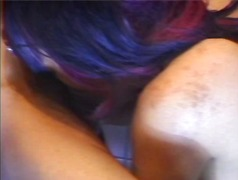 Horny black whore gives head untill g...