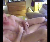 Mature bedroom anal playing