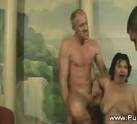 granny, blonde, blowjob, mature, brunette