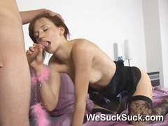 masturbation, tongue, brunette