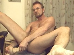 Mature Chap In Glasses Toying & Wanking