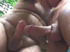 sucking, outdoors, cock, mature