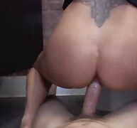 Shameless milf fucking in public WC