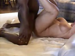 Big tits mature gets black dick and h...