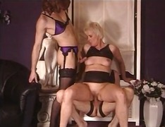 oral, mature, threesome, lingerie,