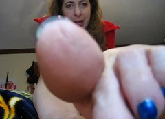 foot, amateur, mature, brunette,