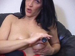 milf, fetish, brunette, masturbation, teacher, smoking
