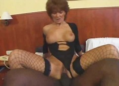 mature, fishnet, interracial,