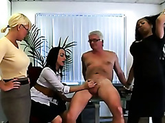 euro, british, handjob, group, cfnm,