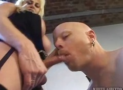 shemale, blowjob, blonde, mature,