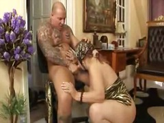Tattooed dude fucking horny granny