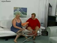 BBW dykes amusing with...