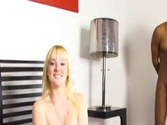 milf, blonde, interracial, creampie,