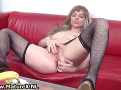 masturbation, solo, blonde, nylon,