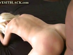 hardcore, blonde, black, blowjob, milf, interracial