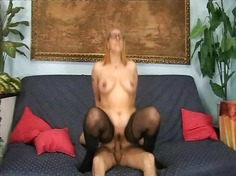 stockings, mature, asshole, cumshot,