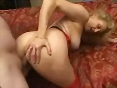 Blonde mature gets cre...
