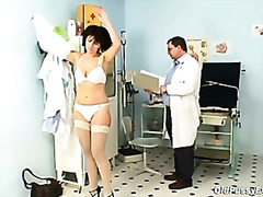 gyno, pussy, old, gaping, hospital