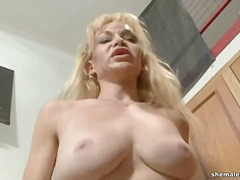 Mature blonde shemale ...