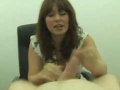jerking, amateur, office, milf, british, handjob