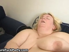 Horny mature ladies with sexy stockin...