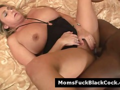 mature, interracial, blonde,