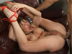 Mature tranny with deep throat will s...