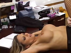 Ana Nova fucked in office during inte...