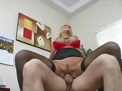 blowjob, office, blonde, fucking
