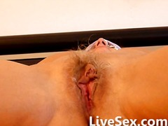 webcam, hairy, granny, masturbation
