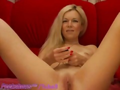Blonde MILF Uses Bullet Vibrator to cum