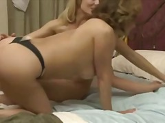 milf, blonde, fingering, thong,