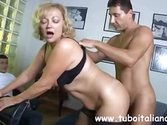 granny, nylon, hardcore, blonde