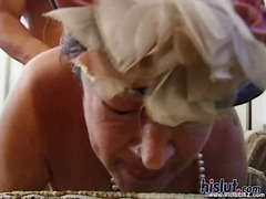 granny, oral, hairy,