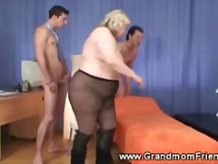 grandmother, group, threesome
