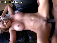 cougar, natural, hardcore, blonde, black, blowjob, milf, interracial