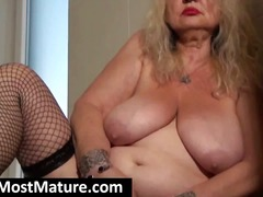 fishnet, bbw, mature, granny,