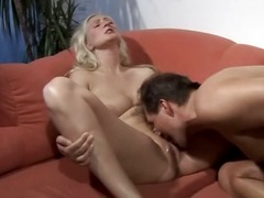 jizz, blonde, milf, lick, oral, busty,