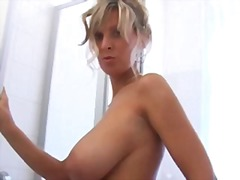 shower, mature, matures, big boobs