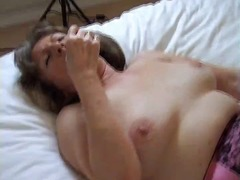 hairy, stockings, brunette, milf, dildo, toys, nylon, fingering, masturbation, granny