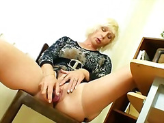 dildo, milf, school, amateur, masturbation, pussy, blonde, mom, old, pantyhose, kinky, czech, mature, stockings, teacher