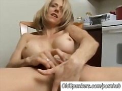 mom, blonde, fingering
