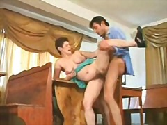 Classic mature Auntie gets drilled in...