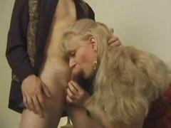 oral, milf, stockings, blowjob, blonde
