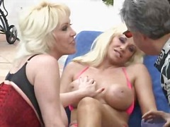 blowjob, jizz, milf, threesome,